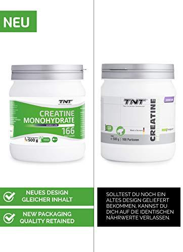 TNT Creapure® Creatine – 100% Kreatin-Monohydrat – Leistungssteigerung und Kraftschub im Training – 500g Dose - 4