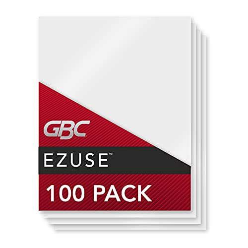 GBC Thermal Laminating Sheets / Pouches, Letter Size, 3 Mil, EZUse, 100-Count (3745003)
