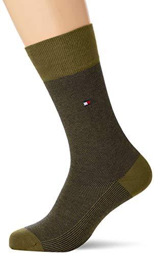 Tommy Hilfiger mens TH 2P BIRD EYE Socks, olive, 43/46 (2er Pack)