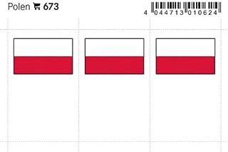 Lindner 673 Color flag-page: Poland