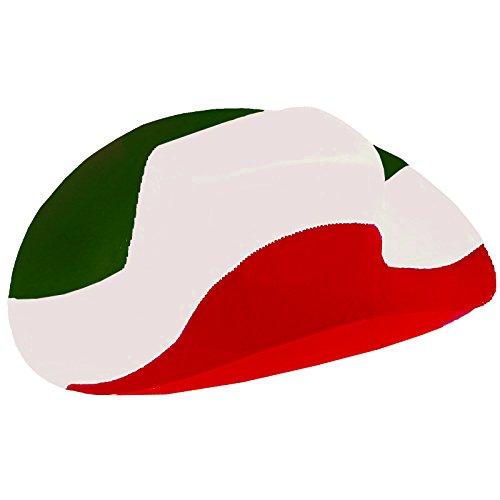 Brubaker Cowboyhut in den Nationalfarben Italiens Irans oder Mexikos - Grün Weiß Rot