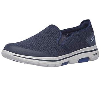 Skechers Men s GOwalk 5 - Elastic Stretch Athletic Slip-On Casual Loafer Walking Shoe Sneaker Navy 10
