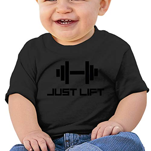Huahai Child Short Sleeve Just Lift Gym Boys - Camiseta para bebé, negro, (18M) EU