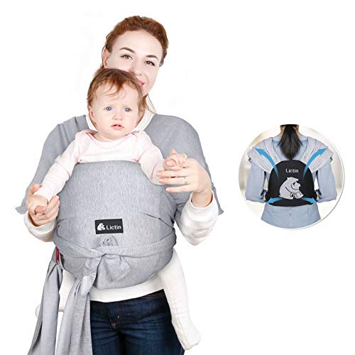 Lictin Baby Wrap Carrier,Baby Slings and Wraps Soft & Breathable Baby Carrier Newborn to Toddler, Ergo Carrier Sling Easy-to-wear with Breastfeeding Cover Carry Newborn up to 18.4KG / 40.5Lbs