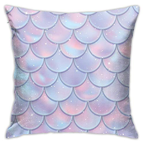with Pillow Insert Fish Scales Seamless Pattern Throw Pillow Cushion Hold Pillow for Bed Sofa for Sofa Couch Decor Home Decorations 18 X 18 Inch