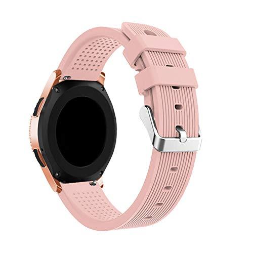 TUANZI Duradero Banda de Silicona Deportiva de 20 mm For Samsung Galaxy Watch SM-R810 42mm & Gear 2 Sport Strap For Huami Amazfit BIP/Amazfit 2 Smart Watch Accesorios de Reloj
