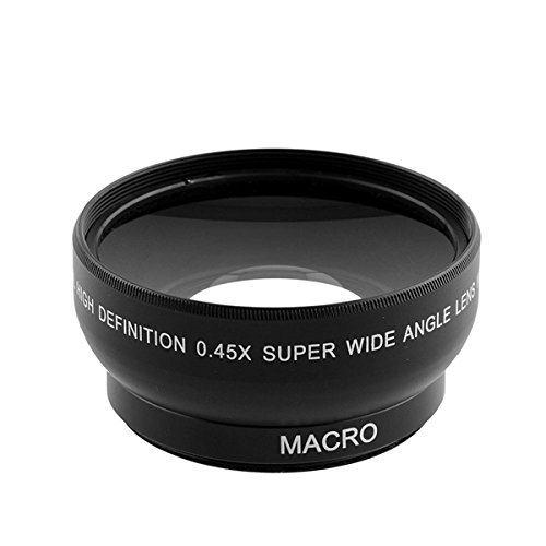 ILS - Objetivo de Ojo de pez para Canon Nikon Pentax Sony Minolta con 18-55 m (0,45 x 52 mm)