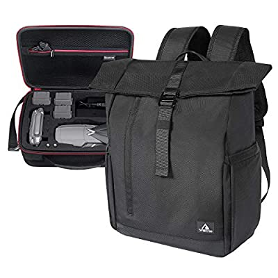 Smatree Backpack with Hard Carrying Case Compatible for Mavic 2 Pro/Zoom Fly More Combo & 13.3-16inch Laptop,Two Bags in One (Drone and Accessories are NOT Included)