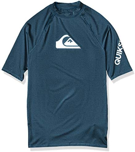 Quiksilver Men s All TIME SS Short Sleeve Rashguard SURF Shirt Majolica Blue Heather L product image