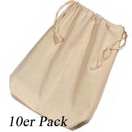 10er Pack Baumwollbeutel 25x30 cm [Spielzeug]