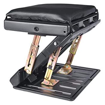Adjustable Footrest with Removable Soft Foot Rest Pad Max-Load 120Lbs with Massaging Beads for Car,Under Desk, Home, Train,4-Level Height Adjustment