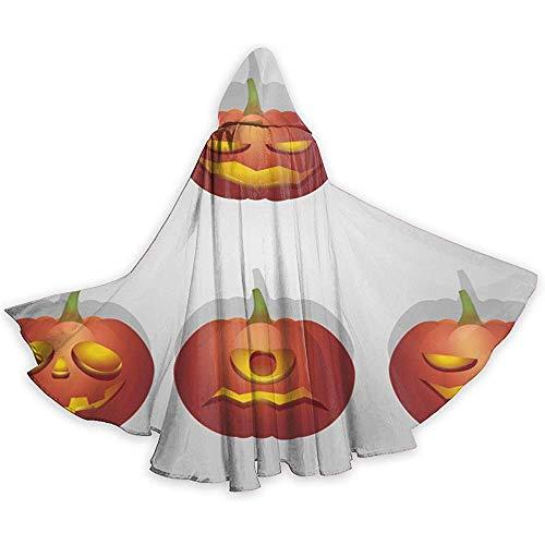 Role Play Dress Up,Adult Hooded Mantel, Mannen Womens Lengte Mantels, Wizard Cape, Verlichte Pompoen Gezicht Mantel, Halloween Hooded Mantels, Party Cosplay Kostuum