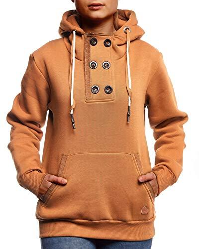 Leif Nelson dames pullover hoodie pullover met capuchon voor vrouwen bovenstuk lange mouwen sweatshirt lange mouwen slim fit LN0828