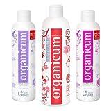 Komplett-Set - organicum Argan-Shampoo für gefärbtes Haar, Spülung und Haarkur gegen Haar- und...