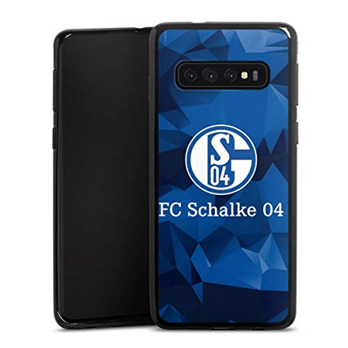DeinDesign Silikon Hülle kompatibel mit Samsung Galaxy S10 Case schwarz Handyhülle FC Schalke 04 Muster Offizielles Lizenzprodukt
