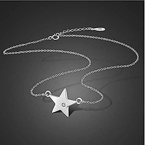 N-G Necklace Star 925 Silver Pendant Necklace Solid Silver Girls Jewelry Gift