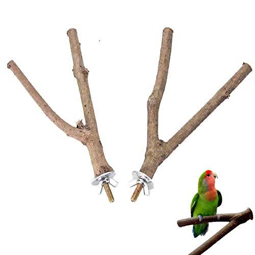 Y型 鳥 止まり木 パーチ オウム 枝 自然木 簡単にケージに設置 2本セット