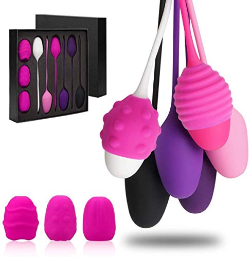 Kegel Balls Exercise Weights, Kegel Exercise Products for Women Tightening and Bladder Control, Set of 6 Pelvic Floor Exercises Kit for Beginners & Advanced
