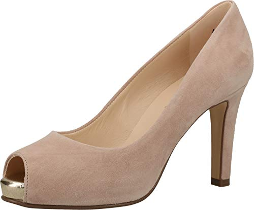 Peter Kaiser Damen Pumps Giulia, Frauen Peeptoe Pumps, Ladies feminin elegant Women's Woman Abend Feier peep-Toes sexy high Heel,Mauve,39.5 EU / 6 UK