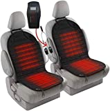 Zento Deals 2pc. Black Car Seat Cushion with 1 Integrated Plug Adjustable...