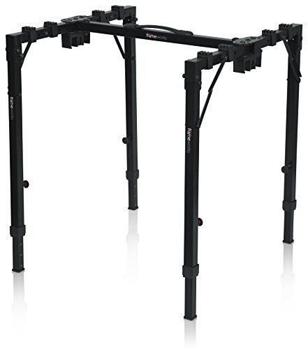 Gator Frameworks Adjustable T-Stand Folding Workstation or Keyboard Stand; Weight Capacity of 250lbs; (GFW-UTL-WS250)