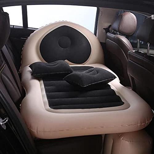 Xiaobei Cama Inflable del Coche, Cama de Viaje Inflable del Coche, cojín del sueño, Accesorios para Interiores del automóvil, colchón de Aire Inflable del Asiento Trasero del sofá-Negro