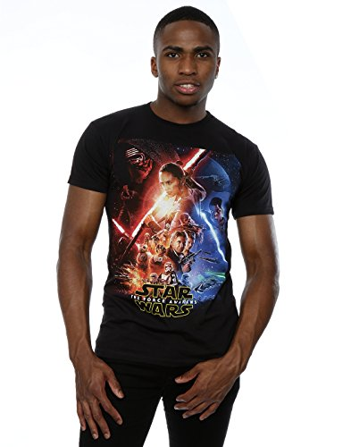 Star Wars Homme The Force Awakens Poster T-shirt XXX-Large Noir