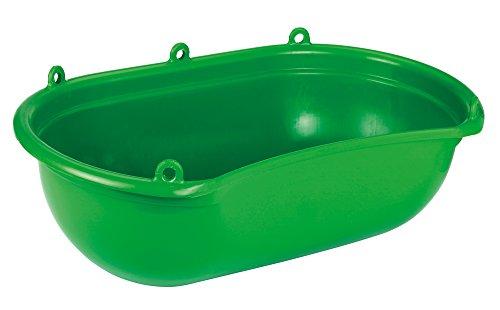 Kerbl 2985 Streuwanne mit Mulde grüner Kunststoff, 20 Liter