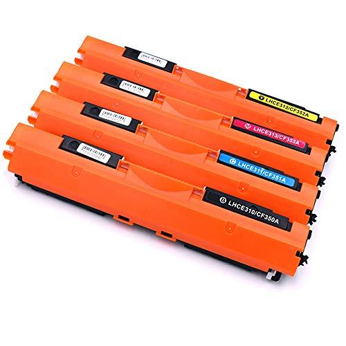 Pure-color vervanging Voor HP 130A CF350A CF351A CF352A CF353A Toner cartridge Compatibel Voor HP Color LaserJet Pro MFP M176n M177fw Printer (1BK 1C 1M 1Y) 4stukken