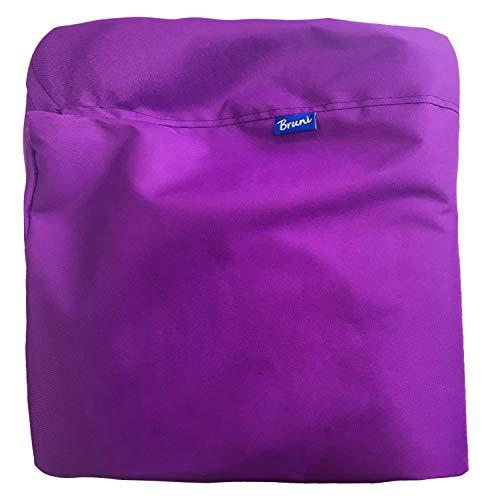 Bruni Classico zitzakhoes zonder vulling – robuuste hoes voor zitzakken, wisselhoes Medium paars