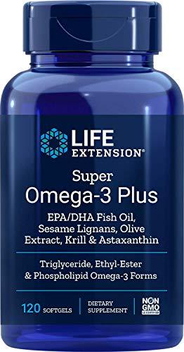 Life Extension, Super Omega-3 Plus, EPA/DHA mit Sesam-Lignanen, 120 Weichkapseln