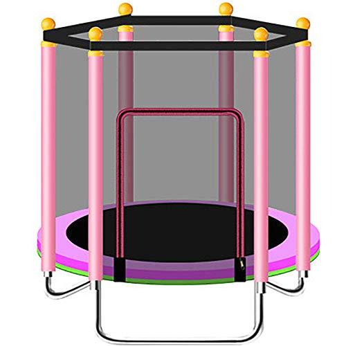 48in Trampoline Voor Kinderen, Trampoline Voor Binnenshuis Met Beschermnet, Dik Oxford-Doek, Pe-Beschermnet, Schuimrubberen Slang, Opvouwbaar,pink