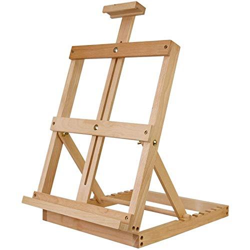 LZZJ Verstellbarer Tischständer aus Holz Stand Sketch Easel Accessany Studio H-Frame für Künstler Malerei Staffelei Zeichnung Kunst Lieferungen