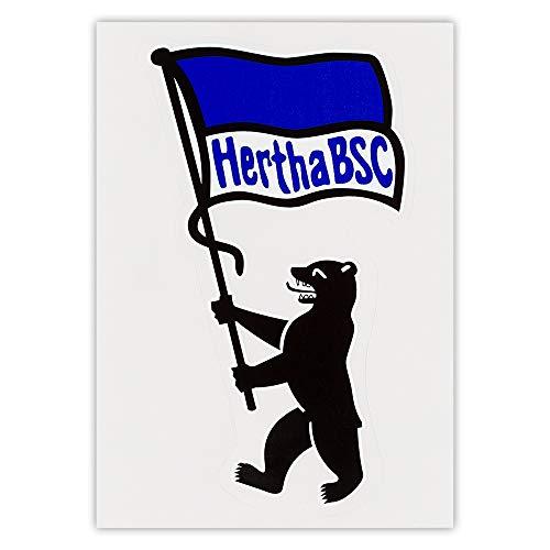 Hertha BSC Berlin Aufkleber - Bär - Autoaufkleber, Sticker - Plus Lesezeichen I Love Berlin