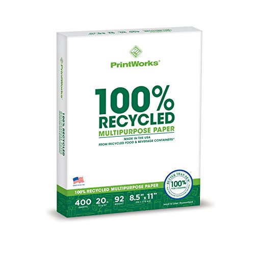 Our #5 Pick is the Printworks 100 Percent Recycled Multipurpose Printer Paper