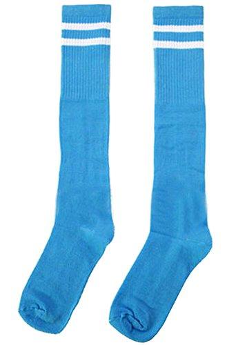 BLANCHO BEDDING Breathfußballspiel Socken knielangen Socken für Kinder, SkyBlue #01