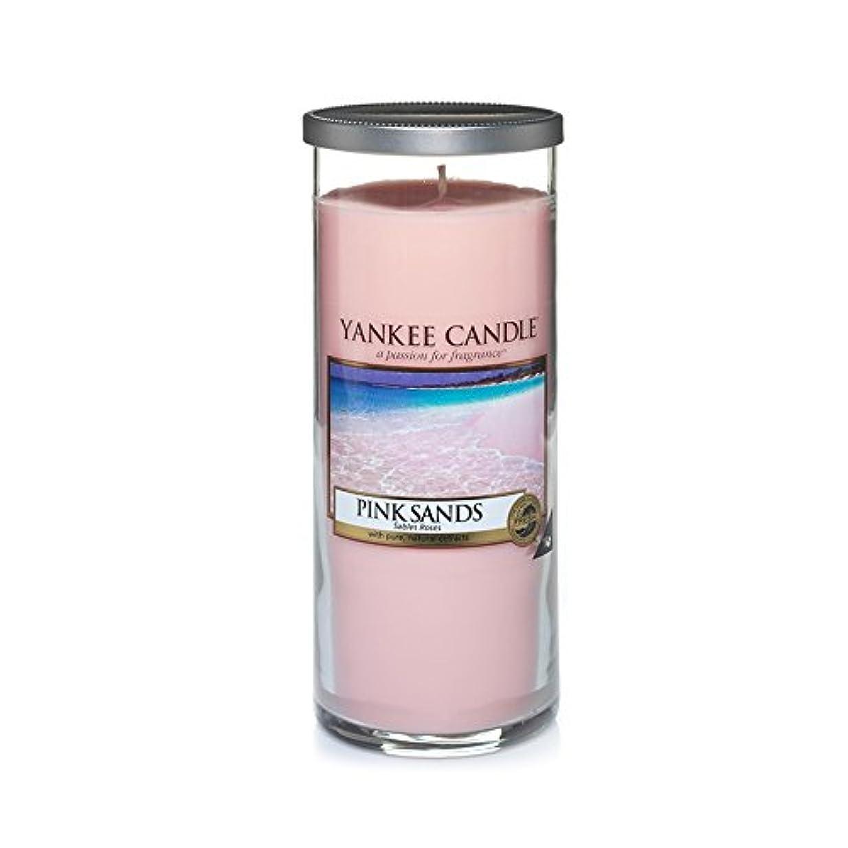 交通増幅親指Yankee Candles Large Pillar Candle - Pink Sands? (Pack of 2) - ヤンキーキャンドル大きな柱キャンドル - ピンクの砂? (x2) [並行輸入品]