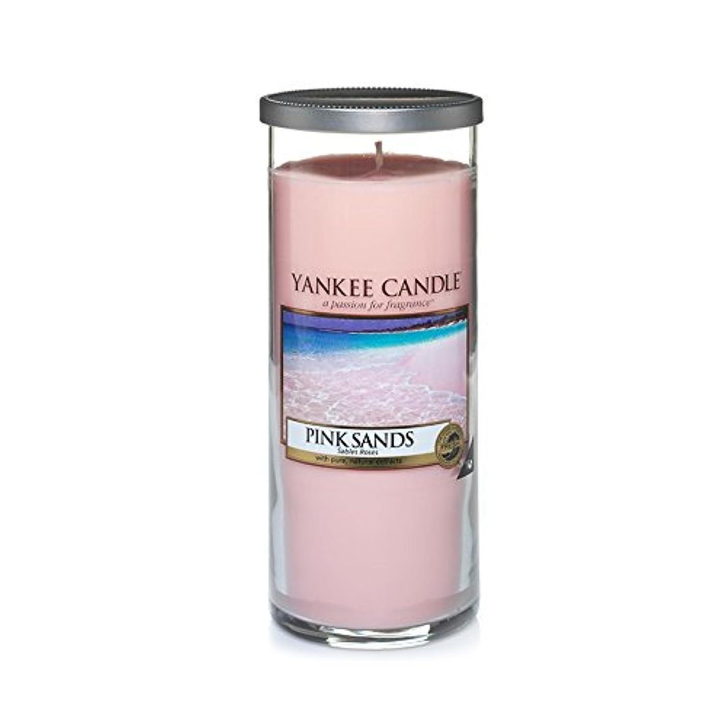 違う先のことを考えるモナリザYankee Candles Large Pillar Candle - Pink Sands? (Pack of 2) - ヤンキーキャンドル大きな柱キャンドル - ピンクの砂? (x2) [並行輸入品]