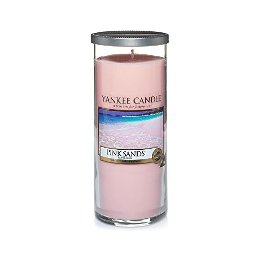 アクロバット失速提案するYankee Candles Large Pillar Candle - Pink Sands? (Pack of 2) - ヤンキーキャンドル大きな柱キャンドル - ピンクの砂? (x2) [並行輸入品]