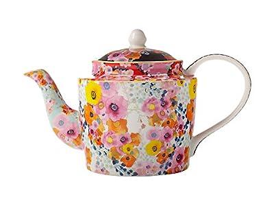 Maxwell Williams Théière en Porcelaine Anglaise Motif Fleurs de Cachemire Multicolore