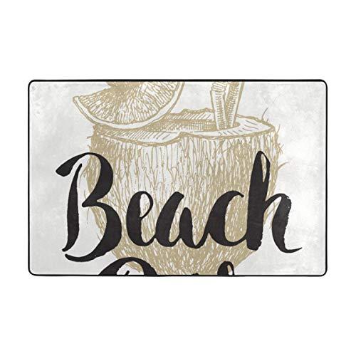 Architd aangepaste strandtas tapijt, gepersonaliseerde badkamer tapijt, 36 X 24 Inches-72 X 48 Inches