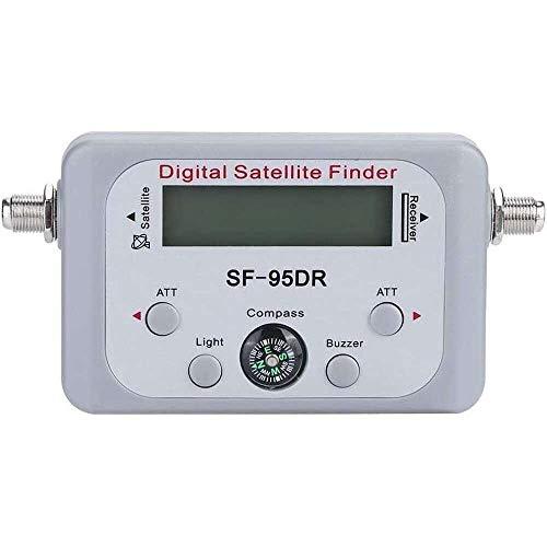 Yuyanshop Soporte del equipo del instrumento del buscador del metro de la señal del satélite de SF-95DR Digital para DirecTV
