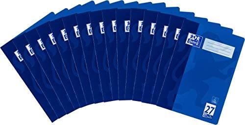 Oxford Zeszyt szkolny A4, w linie, liniatura 27, 16 arkuszy, niebieski, 15 sztuk