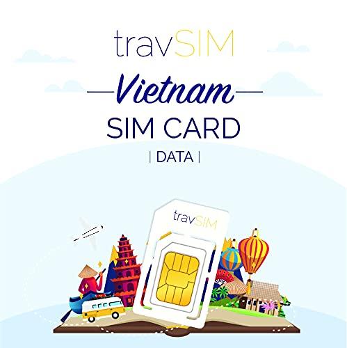 travSIM - Tarjeta SIM Prepaga vietnamita(SIM de Datos para-Vietnam) - 7GB de...