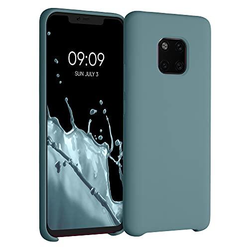 kwmobile Hülle kompatibel mit Huawei Mate 20 Pro - Hülle Silikon gummiert - Handyhülle - Handy Hülle in Arctic Blue