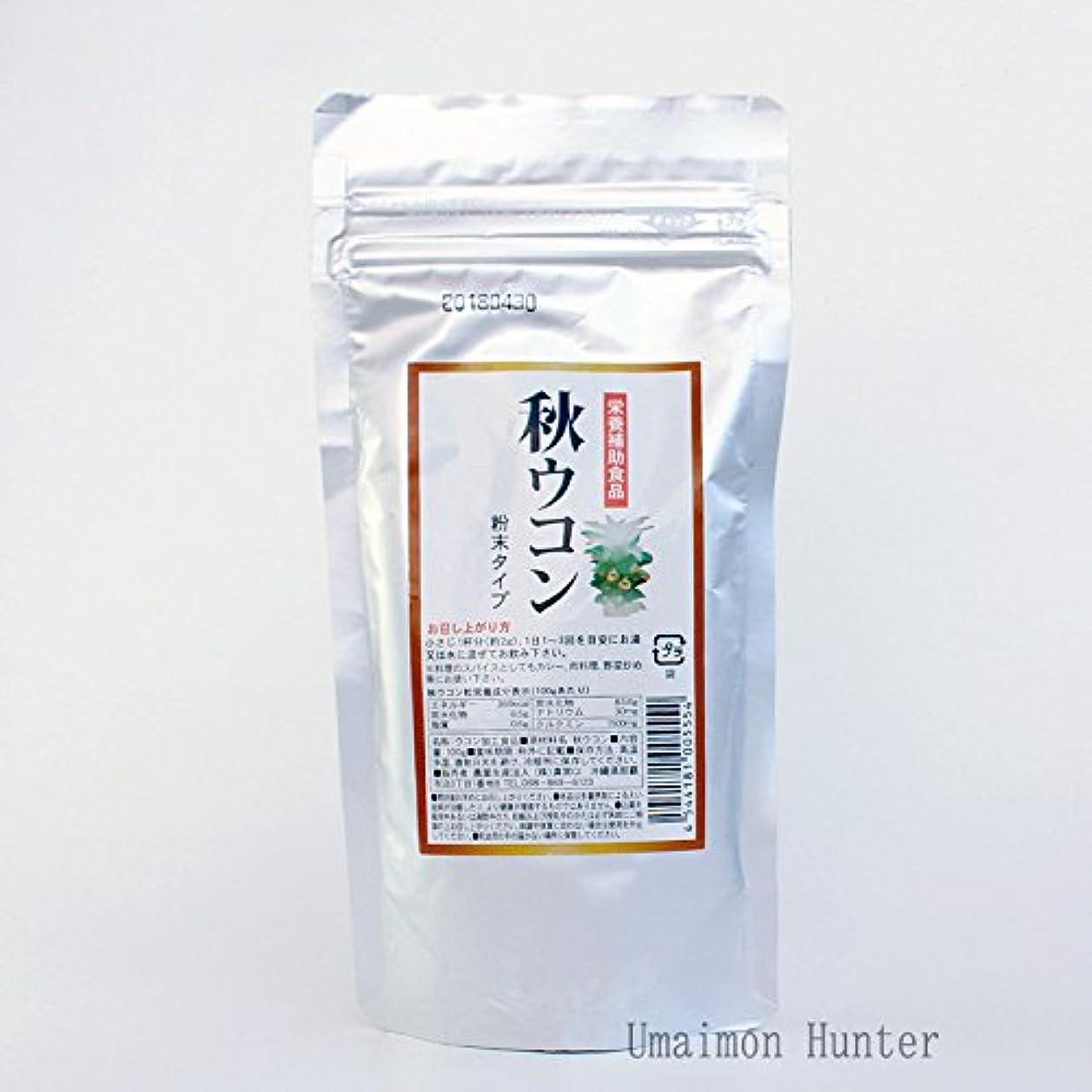 気付くチップ本秋ウコン粉末 アルミパック 100g×6袋 真常 クルクミンが豊富な秋ウコン粉末タイプ 栄養補助食品 沖縄土産に最適