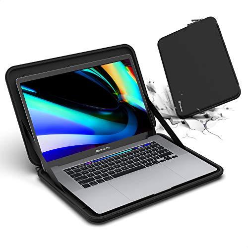 Smatree Macbook Pro Custodia Rigida da 16 pollici, Custodia da Trasporto per Laptop per Macbook Pro da 16' 2019/ 15.6' Razer Blade 15/Acer Aspire 5 A515-55 15,6 , HP 15s-eq0032na/15s-fq1003na, Nero
