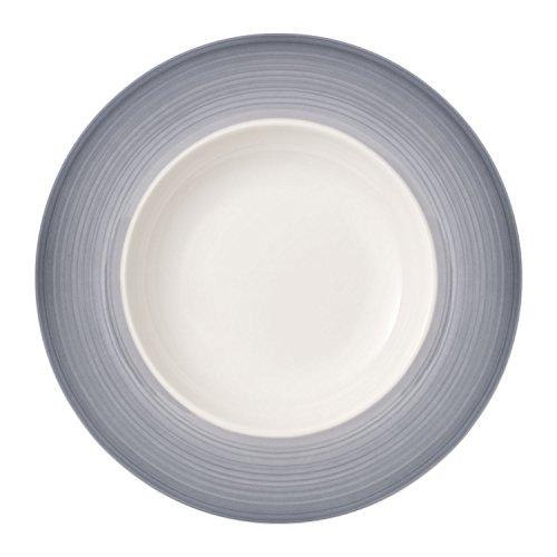 Villeroy & Boch Colourful Life Cosy Grey Assiette à pâtes, 30 cm, Porcelaine Premium, Blanc/Gris