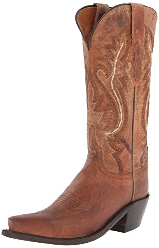Lucchese Bootmaker Women's Cassidy-tan Mad Dog Goat Riding Boot, 8.5 B US