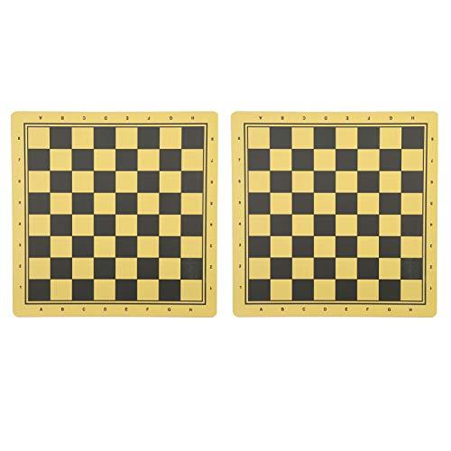 Fabricación profesional 2 piezas de tablero de ajedrez cómodo, adecuado para ajedrez, damas, damas, backgammon